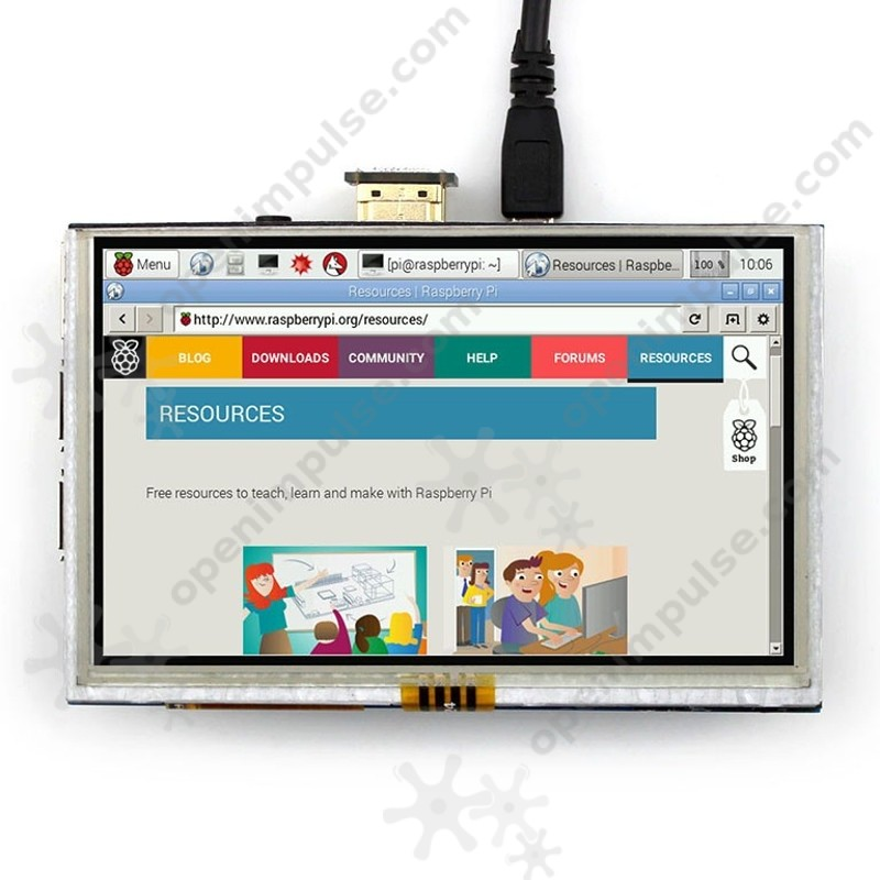 5'' LCD for Raspberry Pi (including HDMI to HDMI connector board
