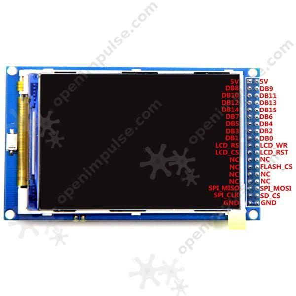3 5'' TFT LCD Module for Arduino MEGA | Open ImpulseOpen Impulse