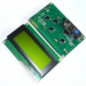 I2C LCD with Yellow-Green Backlight (2004)