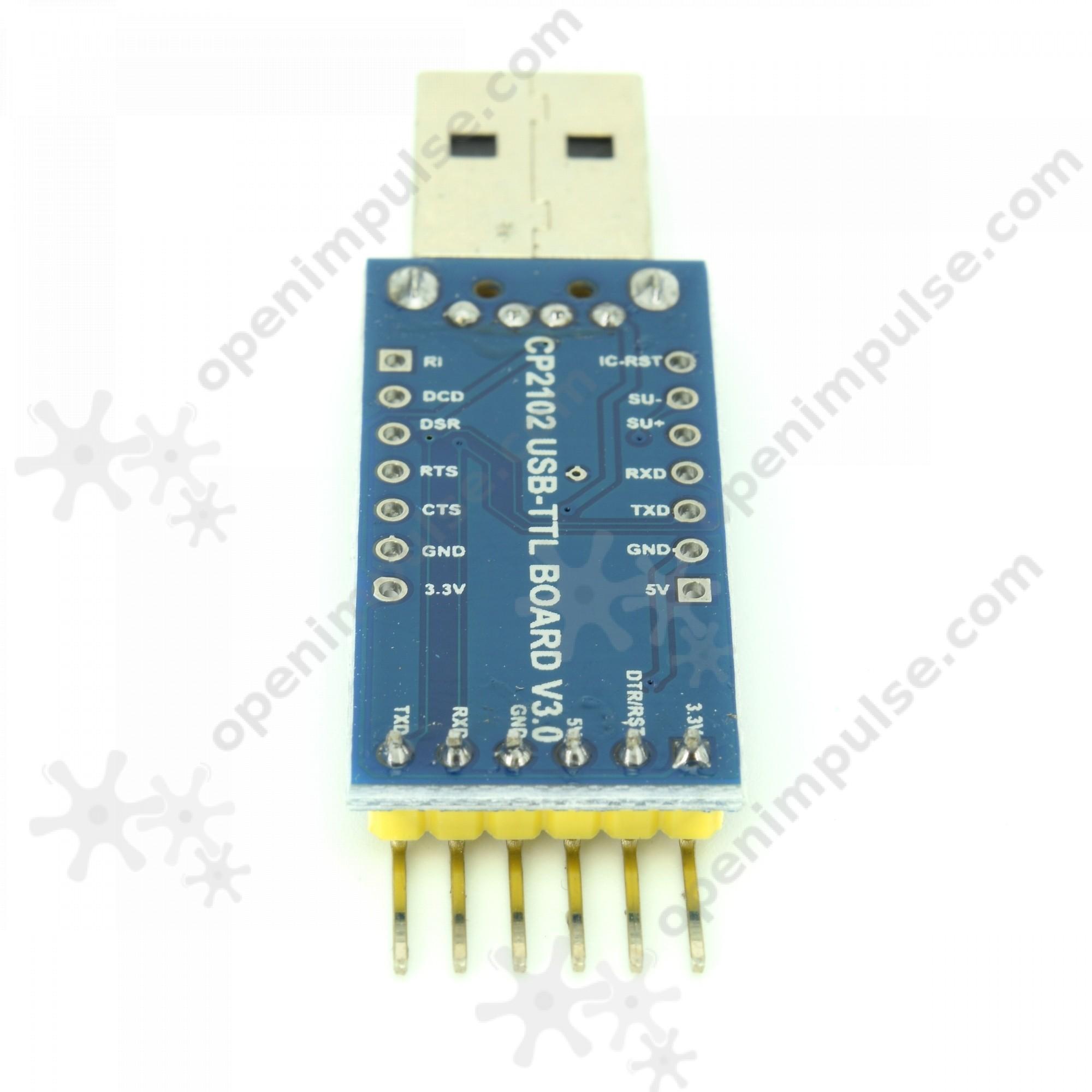 Cp2102 Usb To Uart Converter Module Blue Open Impulseopen Impulse How Establish A Pc Micro Controller Usart Communication
