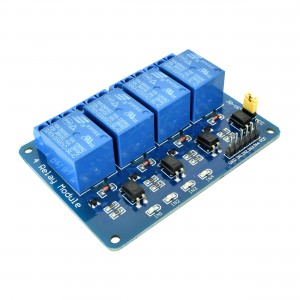 Blue Optoisolated 4 Relay Module (Pack of 10)