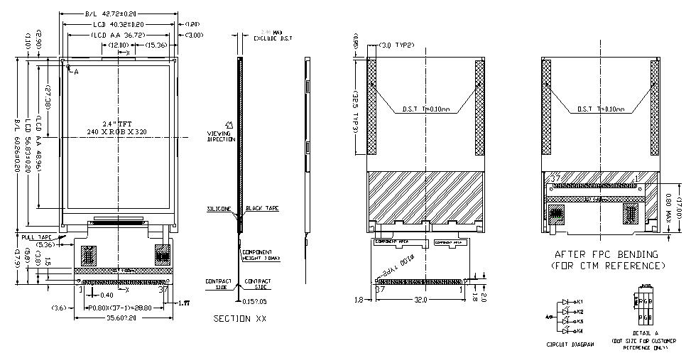 2 4 u0026 39  u0026 39  tft touchscreen lcd module