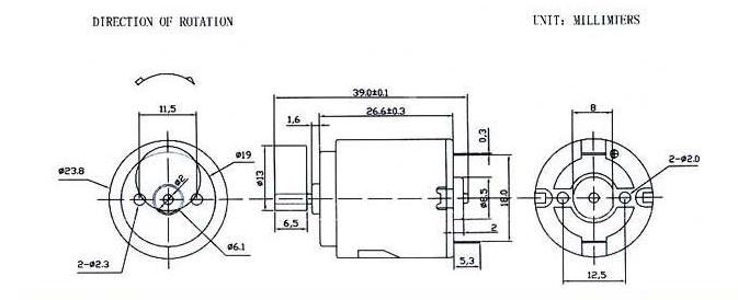 r260 vibration motor